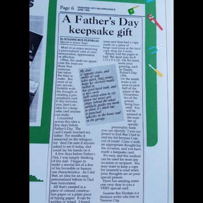 A Father's Day Keepsake Card