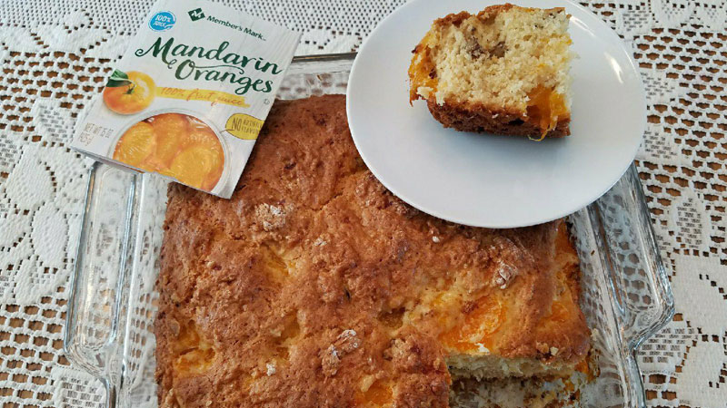 Mandarin Walnut Cake - Hopelessly Hopeful Blog