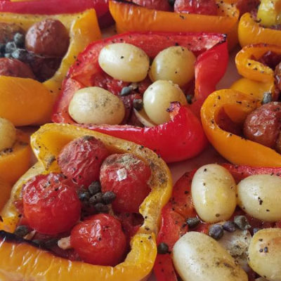 Baked Peppers with Tomatoes