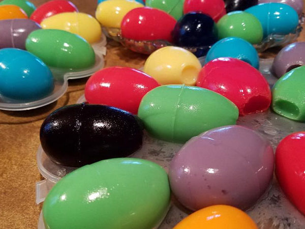 Jell-O Eggs for Next Easter